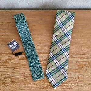 🥃 2 Burberry Ties Nova Check & Kennett-NWT $195!